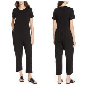 NWT Eileen Fisher Black Tencel Jumpsuit Medium